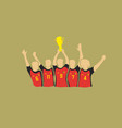 soccer cup winners vector image vector image