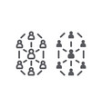 social network line and glyph icon website and vector image