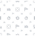 speed icons pattern seamless white background vector image vector image