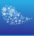 stok-vektor-bubble-snowflakes vector image vector image