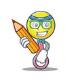student rattle toy character cartoon vector image