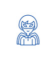 super hero line icon concept super hero flat vector image