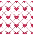 Valentine Heart Seamless Pattern 1 vector image vector image
