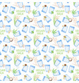 Vegan milk flat seamless pattern