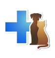 veterinary cross and pets vector image