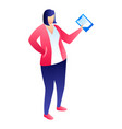 woman manager icon isometric style vector image