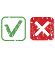 approval and rejection rubber stamp texture vector image vector image