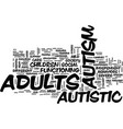 autism in adults text background word cloud