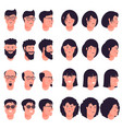 avatar icon set isolated on white vector image vector image