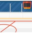 Background of hockey stadium vector image vector image