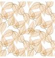 Beige leaves seamless pattern vector image vector image