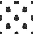 birthday cake icon in black style isolated on vector image