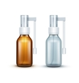 Blank Glass Medical Spray Bottle Isolated vector image vector image
