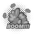 boom comic book explosion icon monochrome vector image