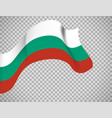 bulgaria flag on transparent background vector image