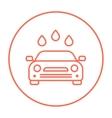 Car wash line icon vector image vector image