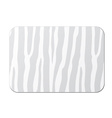 card with zebra pattern vector image vector image