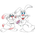 Cartoon rabbit vector image vector image