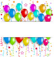Colourful party balloons confetti with space for vector image vector image