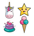 cute objects design vector image vector image