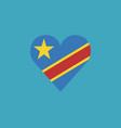 democratic republic of the congo flag icon in a vector image vector image
