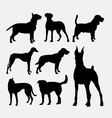 Dog pet animal silhouette 02 vector image