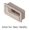 door handle car icon isometric 3d style vector image