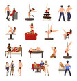 exotic dancer icon set vector image