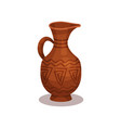 flat icon of old clay jug with traditional vector image vector image