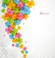 flowers color backgr vector image