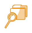 folder file with magnifying glass isolated icon vector image vector image