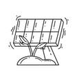 gardening solar panel icon hand drawn icon vector image