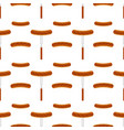 grilled sausage seamless pattern vector image