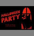 halloween party silhouette greeting vector image