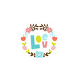 happy cute valentines day postcard vector image vector image