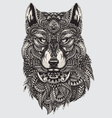 Highly detailed abstract wolf vector image vector image