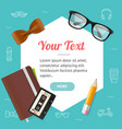 hipster or business style concept background card vector image vector image