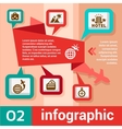 infographic concept travel vector image