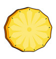isolated cut pineapple icon vector image