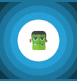 isolated zombie flat icon monster element vector image vector image