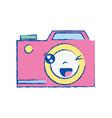 kawaii cute funny digital camera vector image