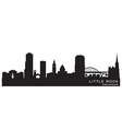 Little Rock Arkansas skyline Detailed silhouette vector image vector image