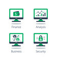 online finance internet banking web security vector image
