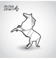 Oriental origami New year horse vector image vector image