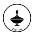 Peg-Top icon vector image