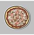 PizzaSticker2 vector image vector image