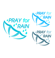 Pray for rain vector image vector image