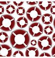 red rescue circle pattern eps10 vector image vector image