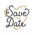 save date invite card template with modern vector image vector image