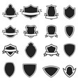 set of the empty emblems templates isolated vector image